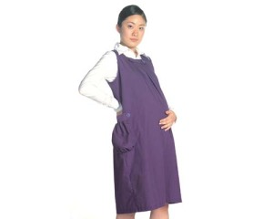 Chinese woman in radio active protection dress