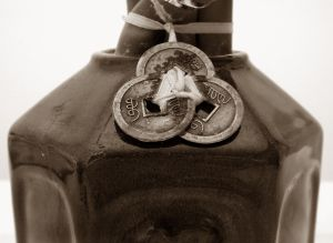 Chinese Medalions on Bottle