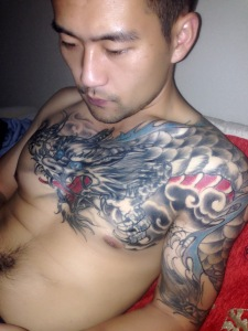 My inspiration for my company name... Jet's amazing dragon tattoo..